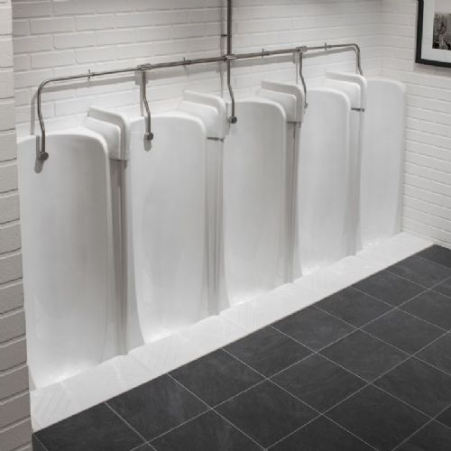 Healey & Lord 2 to 5 Station Fused Run Niagara Floor Standing Slab Urinals
